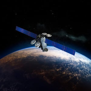 Artist's rendition of the Intelsat 35e satellite