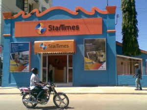 A StarTimes shop in Africa. Photo: StarTimes