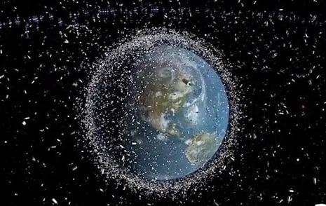 space debris LEO Earth