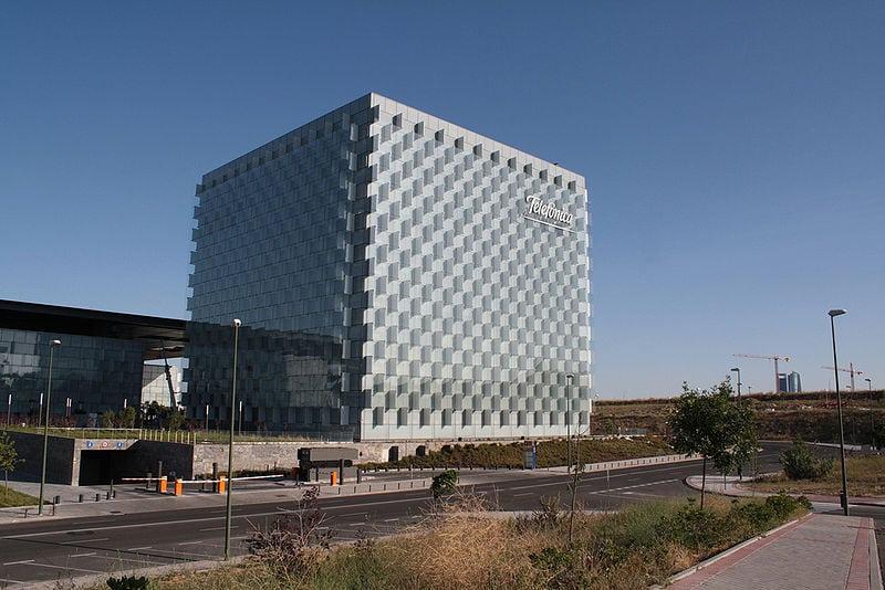 Telefónica's headquarters in Madrid.