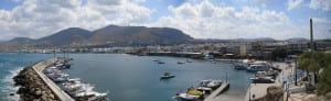 Mountain view marina Hersonissos Greece, Crete