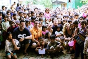 The Kidnected World team on a 2011 visit to Cambodia with partners Cambodia Children's Fund.
