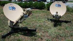 O3b's AVL land transportable antenna.