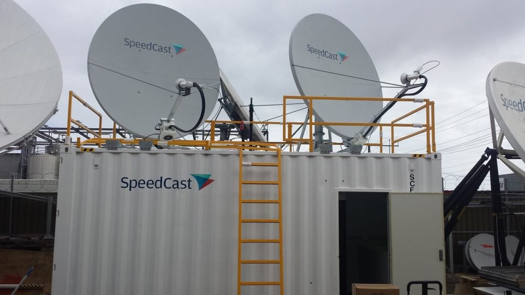 Speedcast antennas. Photo: SpeedCast