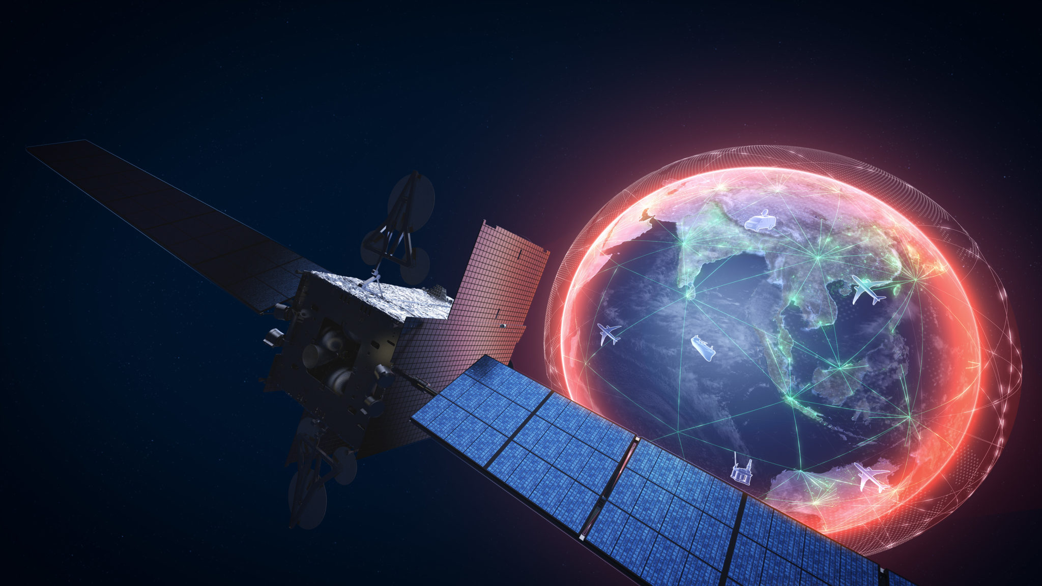 Inmarsat To See New Sales From Global GX Launch Satellite Today - Today satellite image of world