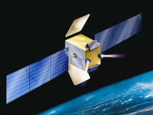 Artist rendition of the AMOS E satellite. Photo: Israel Aerospace Industries