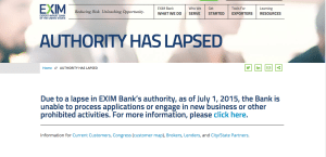 Ex Im Bank Lapse Screen