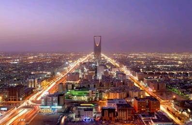 Riyad, capital of Saudi Arabia, at night