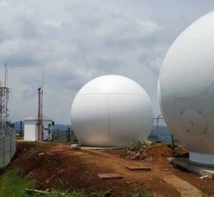 KSAT antenna panama