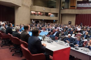 WRC-15 Plenary on global flight tracking