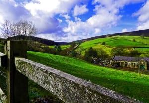 Rural village in the United Kingdom. lancashire