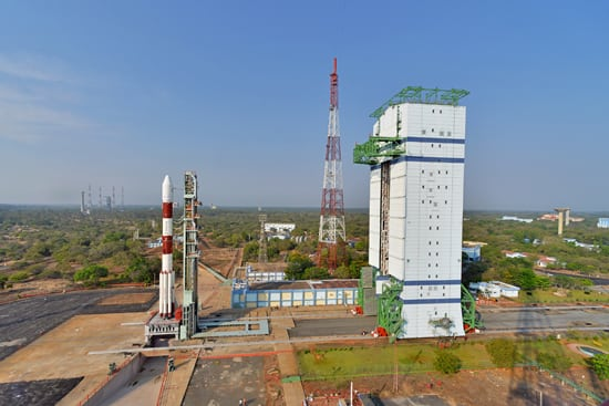 The SSLV is based off the Polar Satellite Launch Vehicle (PSLV), pictured above. Photo: ISRO