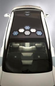Toyota's Mirai-based Kymeta Research Vehicle.