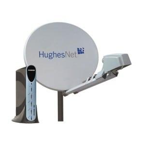 HughesNet dish.