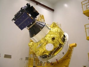 GIOVE-A on Fregat upper stage. Photo: SSTL