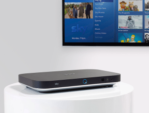 The Sky Q set-top-box.