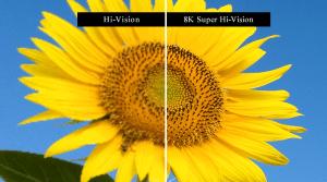 Hi-Vision vs. 8K Super High Vision.