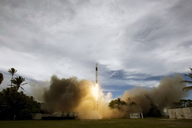 Falcon 1 takes off on its first successful flight delivering the RazakSAT satellite to orbit in 2009.
