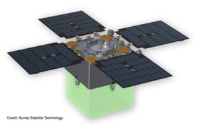 Artist's rendition of new a Surrey small satellite concept. SST US