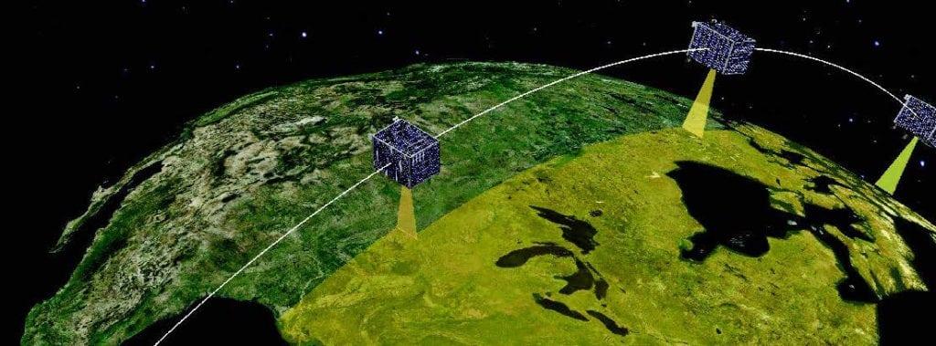 Artist's rendition of UrtheDaily satellites. Photo: Urthecast