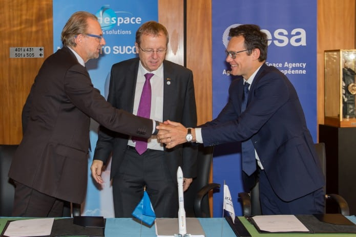 Arianespace and ESA sign ADM-Aeolus launch agreement.