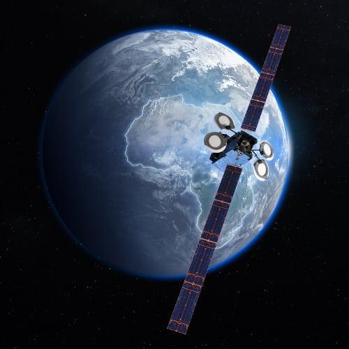 Artist rendering of GiSAT by Boeing