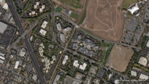 A SkySat 4 image over Google headquarters in Mountain View, California on Sept. 23, 2016. Photo: Terra Bella.