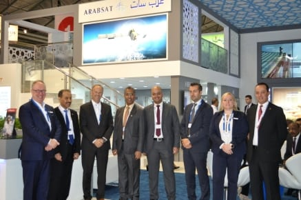Members of the Arabsat and Newtec teams at IBC