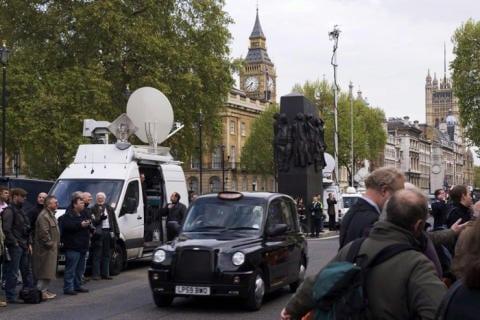 SNG truck in London. Photo: Steve Forrester (REA)