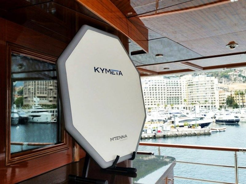 Kymeta mTenna at the Monaco Yacht Show 2016.