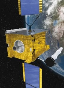 Rendering of the Skynet 5A satellite to provide milsatcom services to Indonesia. Photo: Airbus