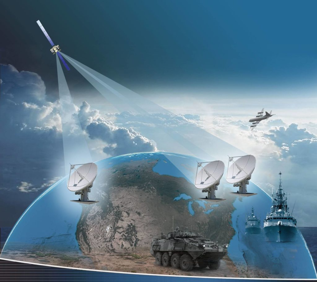 Artist rendition of the Canadian Armed Forces (CAF) Mercury Global project. General Dynamics.