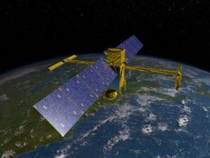NASA Surface Water and Ocean Topography (SWOT) satellite, rendering. Photo: NASA