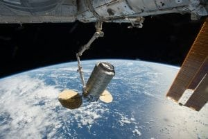 Orbital ATK's Cygnus cargo spacecraft is captured using the Canadarm2 robotic arm on the International Space Station on Oct. 23. Photo: NASA