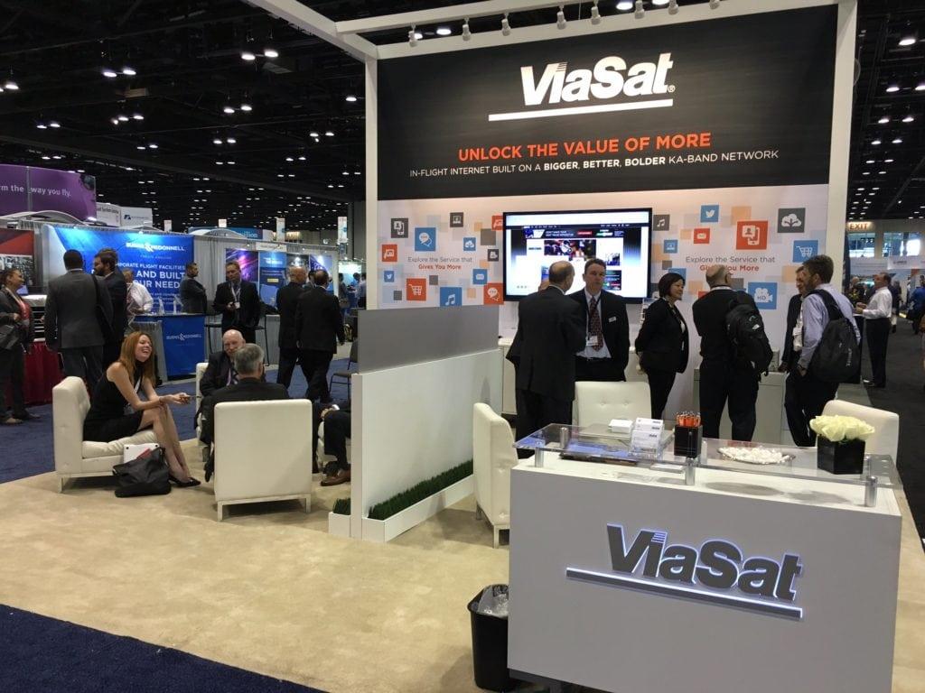 ViaSat's booth at NBAA.