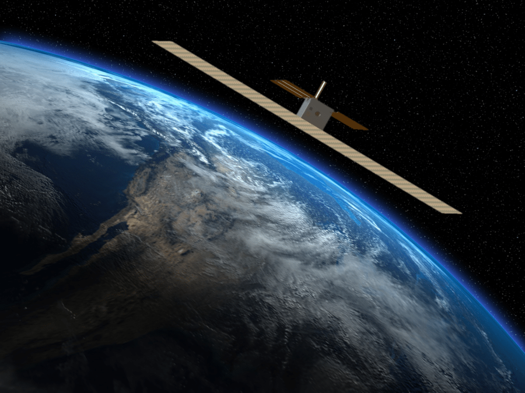 Capella Space Synthentic Aperture Radar (SAR) cubesat, artistic rendering. Photo: Capella Space
