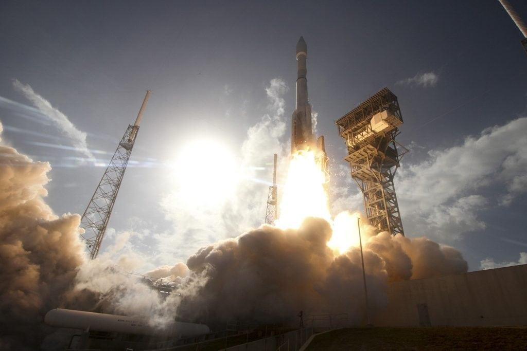 ULA Atlas 5 rocket launching Hughes' EchoStar 19 satellite. Photo: Lockheed Martin