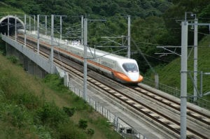 Taiwan's high-speed railway, which poses an opportunity for satellite among other land-based communications. Photo: Wikimedia