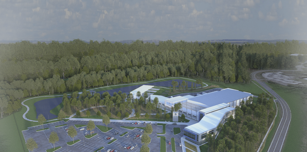 Rendering of OneWeb Exploration Park, Florida manufacturing facility to begin production in 2018