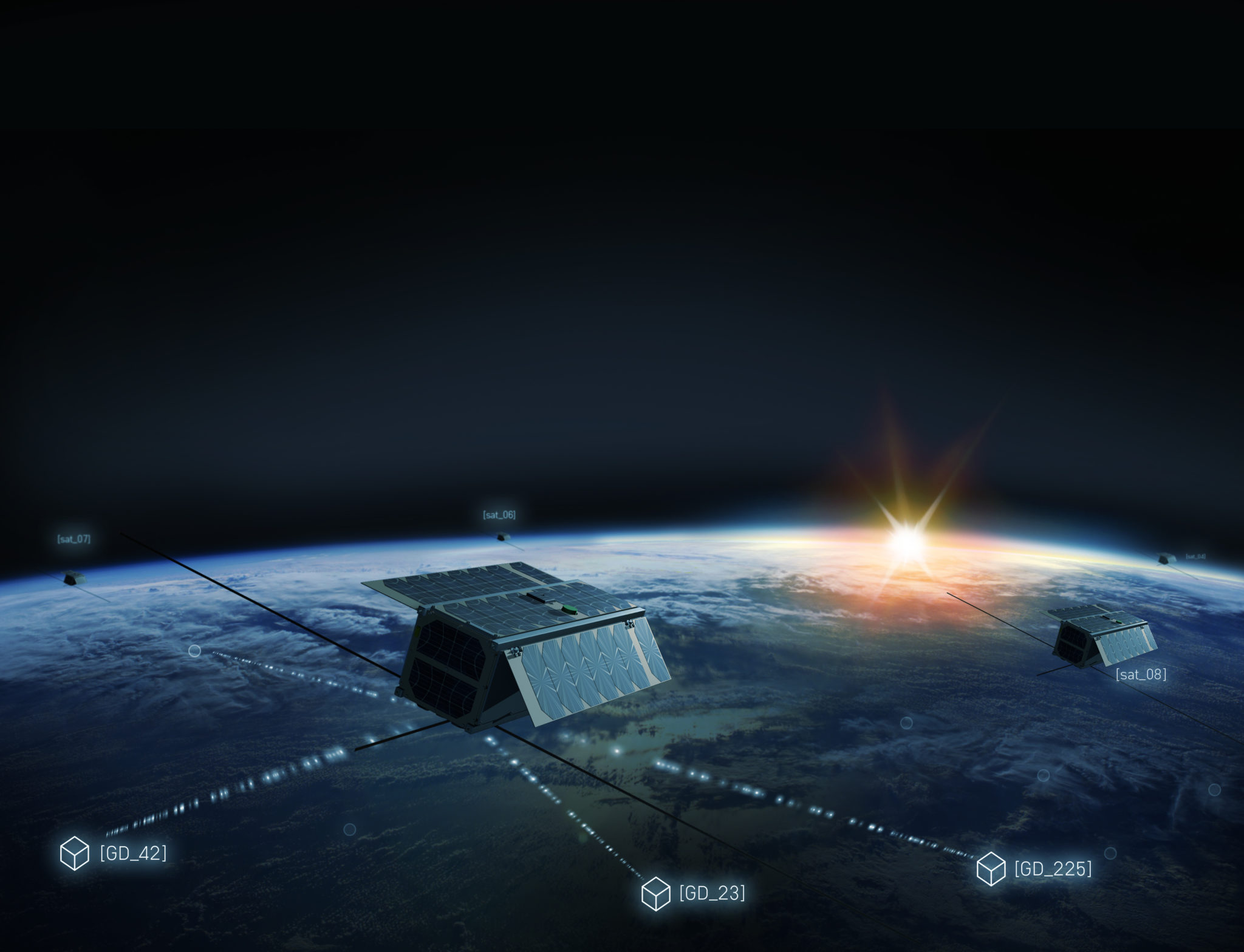 Rendition of a nanosatellite in the Astrocast constellation. Photo: Astrocast.