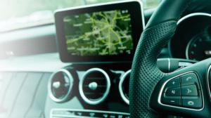 In-car display. Photo: Irdeto