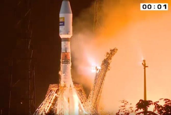 Flight VS16 was performed from the Spaceport's ELS launch zone for Arianespace's medium-lift Soyuz