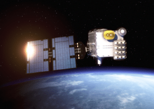 Satellite in the COSMIC 2 constellation, rendering. Photo: Surrey Satellite Technology