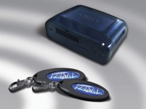 Viasat uses Orange Business Services IoT connectivity for a range of its products including the automotive location system BluBox, pictured here. Photo: Business Wire