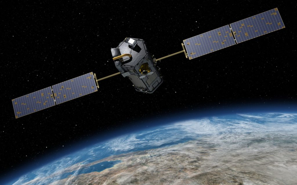 The Orbiting Carbon Observatory 2, or OCO-2, to be replaced by OCO-3.