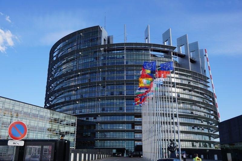 Strasbourg European Parliament Building.