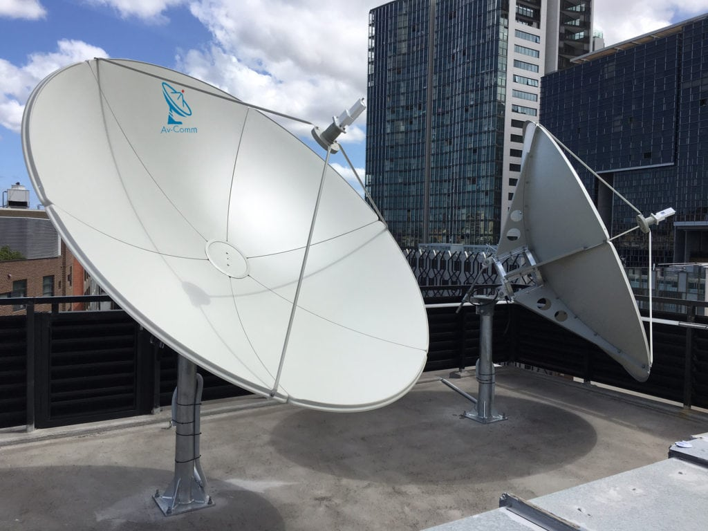 2.4m C Band Satellite Dish.