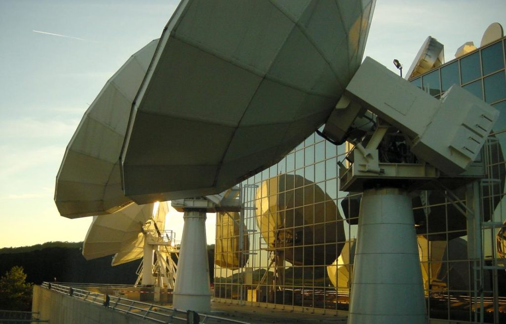 SES Uplink Antennas.