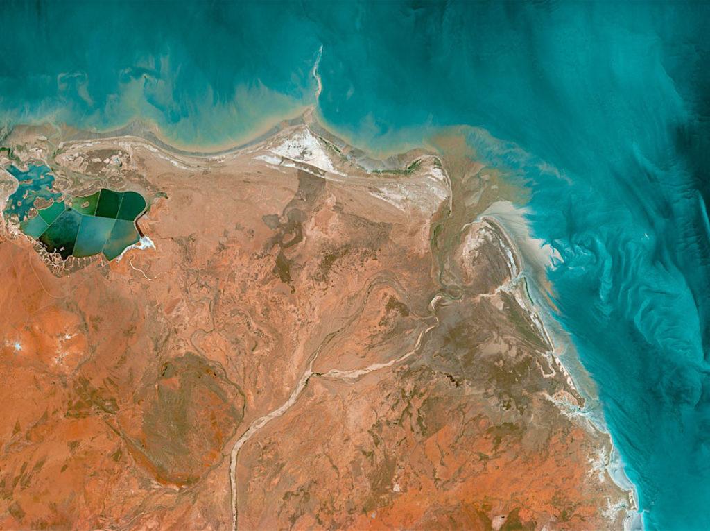 Coast of western Australia captured by UrtheCast's Theia camera.