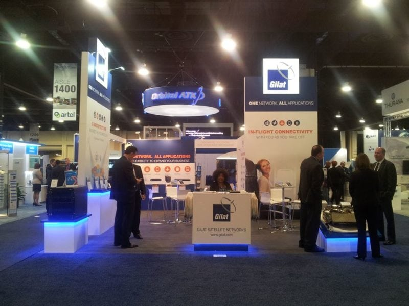 Gilat's booth at SATELLITE 2016.